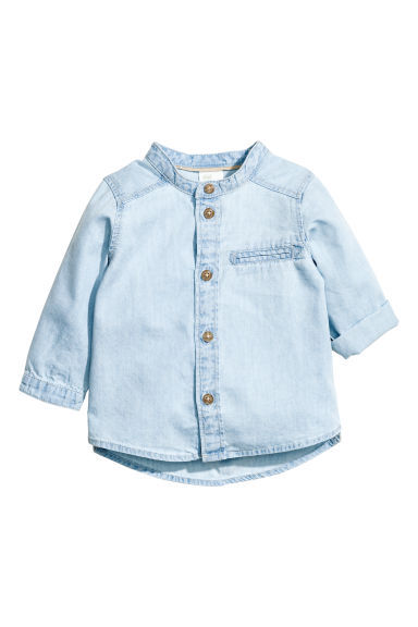Lyocell blend denim shirt - Light denim blue - Kids | H&M 1